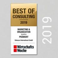 Best of Consulting 2019 - Marketing & Organization