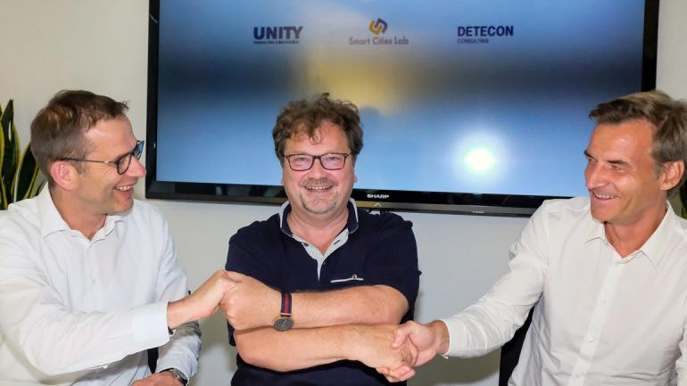Partnerschaft Smart Cities Detecon International, Unity, Smart City Labs
