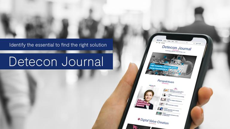 Foto das Handy zeigt mit Cover Detecon Journal